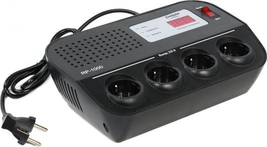 Стабилизатор напряжения Exegate Power RP-1000 черный 4 розетки EP259014RUS