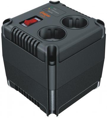 Стабилизатор напряжения Exegate Power AD-500 черный 2 розетки EP259011RUS