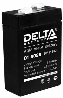 Батарея Delta DT 6028 2.8Ач 6B delta battery dt 1207 12v 7ah