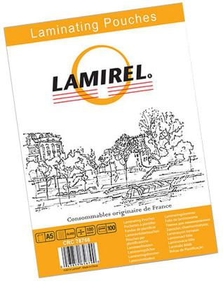 Пленка для ламинирования Fellowes Lamirel LA-7876601 А5 100мкм 100шт