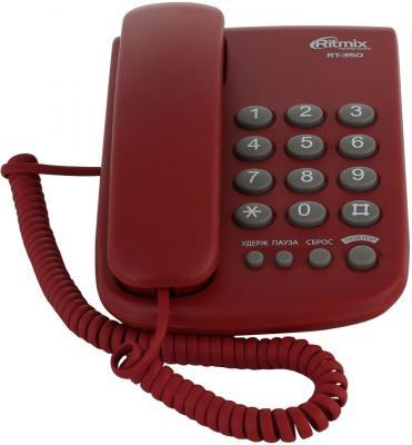 Телефон Ritmix RT-350 вишневый