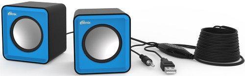 Колонки Ritmix SP-2020 2x2 Вт USB черно-синий