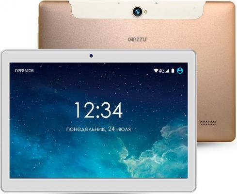 "Планшет GINZZU GT-1040 10.1"" 16Gb золотистый Wi-Fi 3G Bluetooth LTE Android GT-1040 Gold"