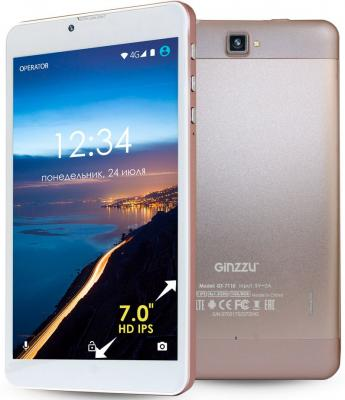 Планшет GINZZU GT-7110 7 8Gb розовый Wi-Fi 3G Bluetooth Android GT-7110 Rose Gold планшет ginzzu gt 8005 8 0 8gb 3g 4892125311217