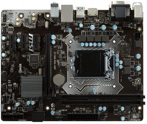 Мат. плата для ПК MSI H110M PRO-VDP Socket 1151 H110 2xDDR4 1xPCI-E 16x 3xPCI-E 1x 4 mATX Retail ноутбук msi gs43vr 7re 094ru phantom pro 9s7 14a332 094