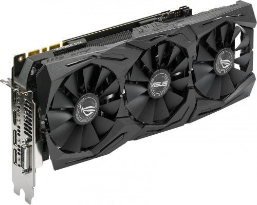 Видеокарта 11264Mb ASUS GeForce GTX1080Ti PCI-E 352bit GDDR5 DVI HDMI DP HDCP ROG STRIX-GTX1080TI-11G GAMING Retail
