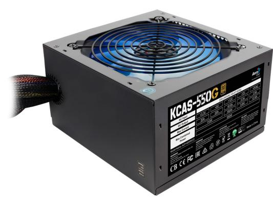 Блок питания ATX 550 Вт Aerocool KCAS-550G блок питания atx 400 вт aerocool kcas 400w