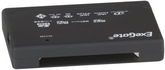 Картридер внешний Exegate CR-319 USB2.0 CF/M2/MMC/SD/SDHC/XD EX169921RUS картридер внешний transcend ts rdp8k cf mmc sd sdhc microsdhc msduo msmicro черный
