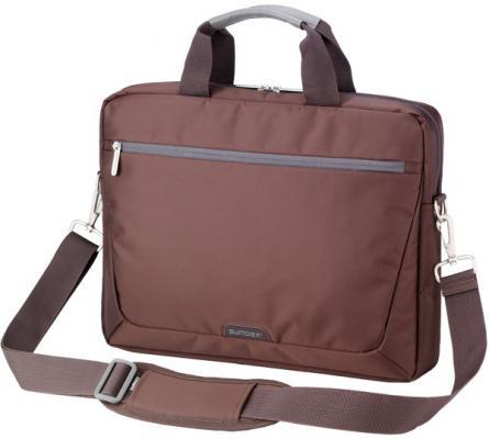 """Сумка для ноутбука 15.6"""" Sumdex PON-111BR нейлон коричневый"""
