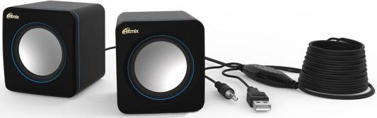 Колонки Ritmix SP-2010 2x2.5 Вт черно-синий портативная колонка ritmix sp 274b black