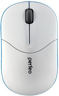 Мышь беспроводная Perfeo PF-533-WOP белый синий USB + радиоканал мышь perfeo pulse usb black pf 537 wop b