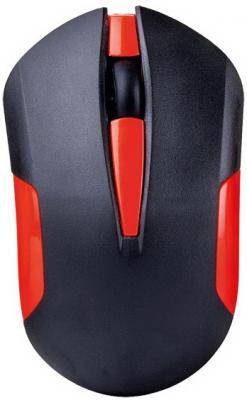 Мышь беспроводная Perfeo SONATA PF-153-WOP-B/R чёрный красный USB