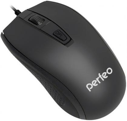 Мышь проводная Perfeo Profil чёрный USB PF-383-OP-B