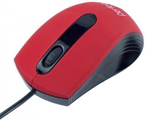Мышь проводная Perfeo COLOR PF-203-OP-R красный USB