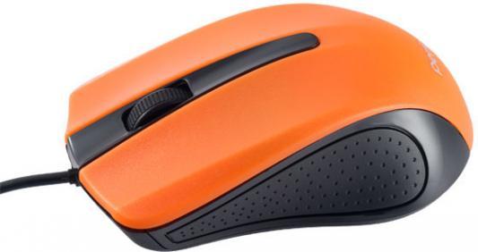 Мышь проводная Perfeo PF-353-OP-OR чёрный оранжевый USB