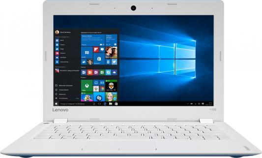 "Ноутбук Lenovo IdeaPad 110S-11IBR Pentium N3710/4Gb/SSD128Gb/Intel HD Graphics 405/11.6""/HD (1366x768)/Free DOS/blue/WiFi/BT/Cam"