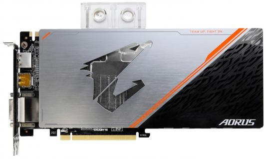 Видеокарта 11264Mb Gigabyte GeForce GTX1080Ti PCI-E HDMI DP DVI HDCP GV-N108TAORUSX WB-11GD Retail видеокарта 8192mb msi geforce gtx 1080 gaming x 8g pci e 256bit gddr5x dvi hdmi dp retail