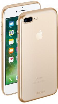 Накладка Deppa Gel Plus Matt Gold для iPhone 7 Plus золотой 85289 накладка deppa gel plus matt gold для iphone 7 plus золотой 85289