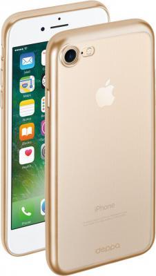 Чехол Deppa Gel Plus для iPhone 7 iPhone 8 матовый золотой прозрачный 85284 чехол deppa gel case для apple iphone 7 plus iphone 8 plus прозрачный 85252