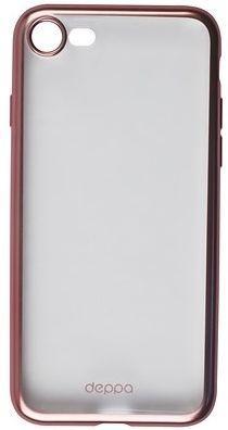 Накладка Deppa Gel Plus Matt для iPhone 7 розовое золото накладка deppa gel plus matt gold для iphone 7 plus золотой 85289