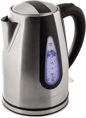 Чайник Scarlett SC-EK21S48 2000 Вт серебристый 1.8 л нержавеющая сталь радиатор scarlett sc 21 1005 s
