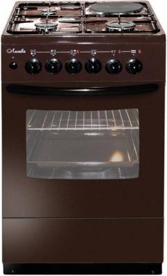 Комбинированная плита Лысьва 1/3г01 M2C-2у коричневый электрическая плита лысьва эп 301 wh