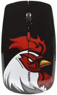 Мышь беспроводная Smart Buy 327AG Красный петух чёрный USB SBM-327AG-RR-FC