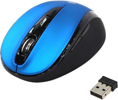 все цены на Мышь беспроводная беззвучная Smartbuy 612AG синяя, Blue LED [SBM-612AG-BK] онлайн