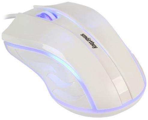 Мышь проводная Smart Buy ONE 338 белый USB SBM-338-W
