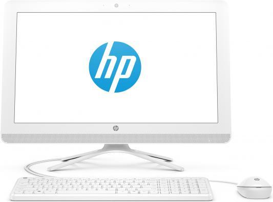 """Моноблок 21.5"""" HP 22-b348ur 1920 x 1080 Intel Core i3-7100U 4Gb 1Tb Intel HD Graphics 620 Windows 10 белый 2BW21EA"""