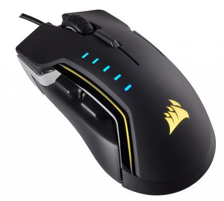 Мышь проводная Corsair Gaming GLAIVE RGB (EU) чёрный USB CH-9302111-EU