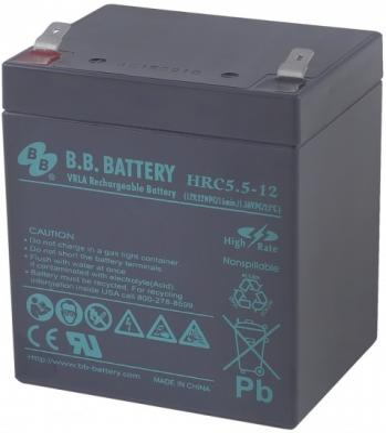 Батарея B.B. Battery HRC 5.5-12 5Ач 12B аккумулятор для ибп b b battery hr 5 8 12