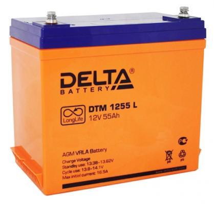 Батарея Delta DTM 1255 L 55Ач 12B