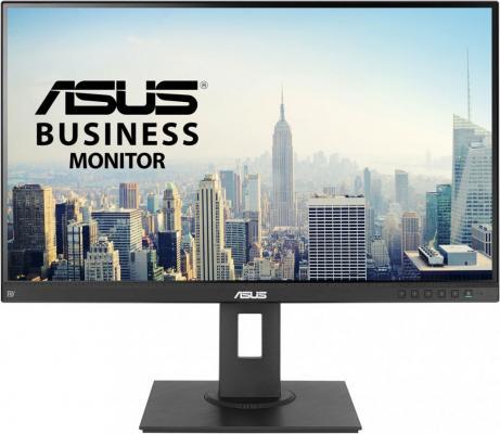"""ASUS 27"""" BE27AQLB IPS LED 2K, 2560x1440, 5ms, 350 cd/m2, 100Mln:1, 178°/178°, DVI, HDMI, DisplayPort, miniDP, USB-Hub, Tilt, Swivel, Pivot, регул. по высоте, колонки, VESA, Black, 90LM03I0-B01370 цена и фото"""