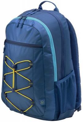 Рюкзак для ноутбука 15.6 HP Active Backpack синтетика синий желтый рюкзак для ноутбука 15 6 thule lithos backpack tlbp 116 синий