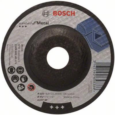 Обдирочный круг Bosch Standard по металлу 180х6мм SfM вогнутый 2608603183