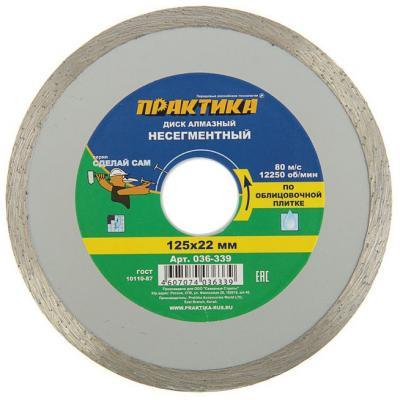 Алмазный диск Практика Сделай Сам несегментный 125х22 036-339