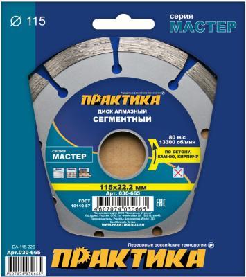 Алмазный диск Практика Мастер сегментный 115х22 030-665