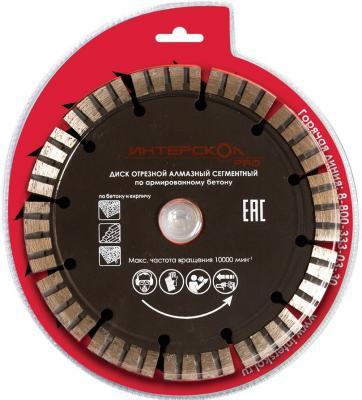 Алмазный диск Интерскол 180х22.2 по бетону 0711 008