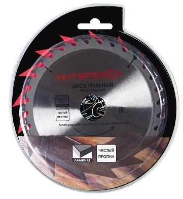 Пильный диск Интерскол 200x32/30-48T по ламинату 1202.051