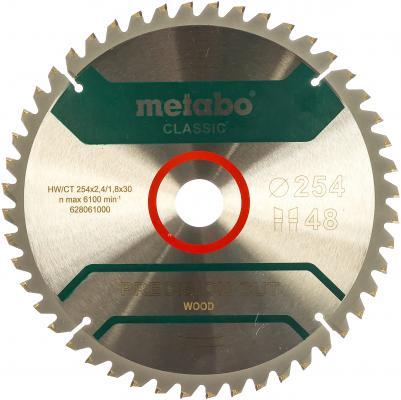 Пильный диск Metabo254x30 НМ 48WZ 5 отр д.торцовок 628061000
