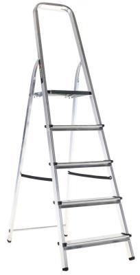 Лестница-стремянка Вихрь СА 1х5 алюминиевая