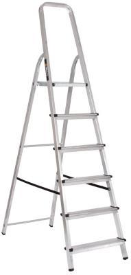 Лестница-стремянка Вихрь СА 1х6 алюминиевая