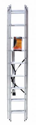 Лестница Вихрь ЛА 3х9 алюминиевая трёхсекционная