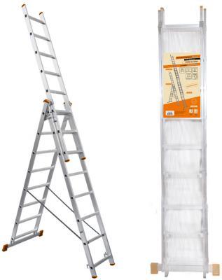 Лестница Вихрь ЛА 3х10 алюминиевая трёхсекционная