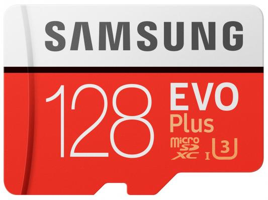Карта памяти Micro SDXC 128Gb Class 10 Samsung EVO PLUS UHS-I U3 чтение 100Мб\\c запись 90Мб\\с MB-MC128GA/RU + SD adapter samsung u3 memory card 128gb evo plus micro sd card class10 uhs 1 64gb 256gb speed max 100m s 32g microsd for tablet smartphone