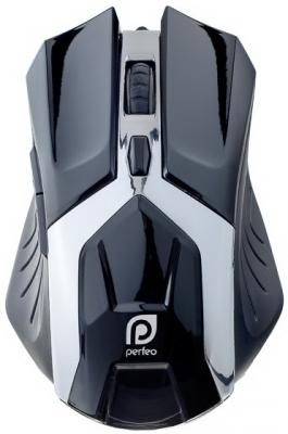 все цены на  Мышь проводная Perfeo Galaxy PF-1718-GM черная USB  онлайн