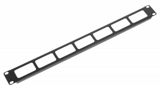 Горизонтальный кабельный органайзер ЦМО ГКО-О-1-9005 19 1U односторонний черный кабельный органайзер горизонтальный цмо гко у гребенка 1u шир 19