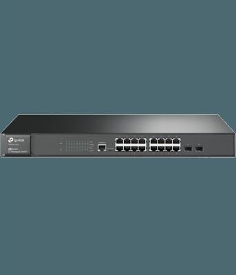Коммутатор TP-LINK T2600G-18TS управляемый 16-ports 10/100/1000Mbps 2xSFP