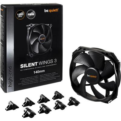 Вентилятор be quiet! SilentWings 3 140x140x25мм 4pin 1000rpm BL067